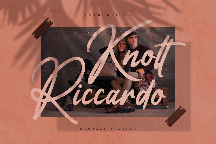 Knott Riccardo - Handwritten Font example image 1