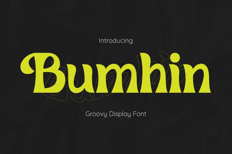 Bumhin Font example image 1
