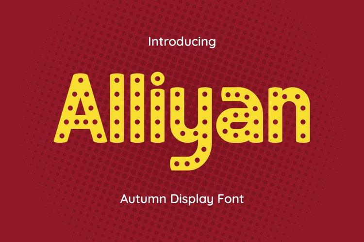 Alliyan Font example image 1