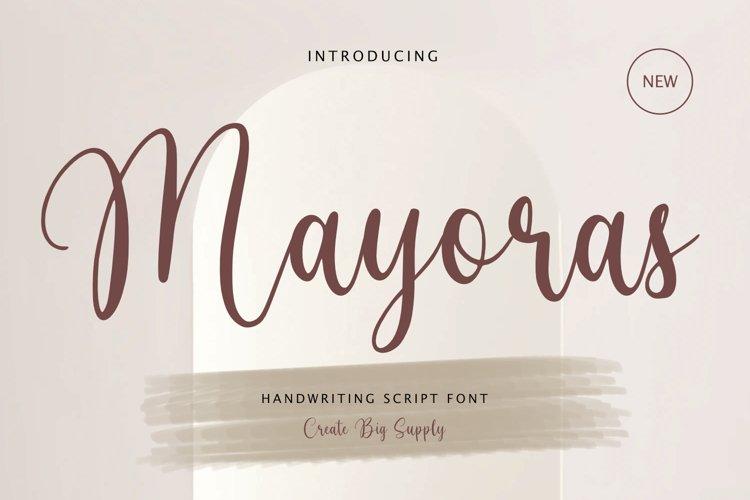 Mayoras - Handwriting Script Font, Cricut font, silhouette
