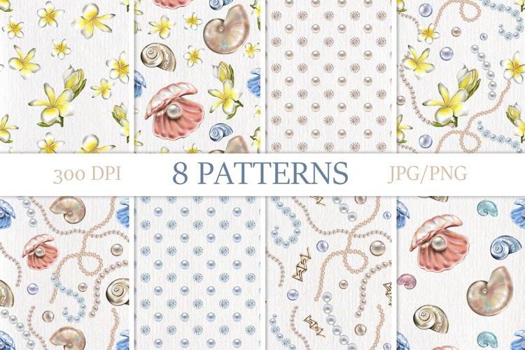 Jewelry seamless patterns. Luxury print.