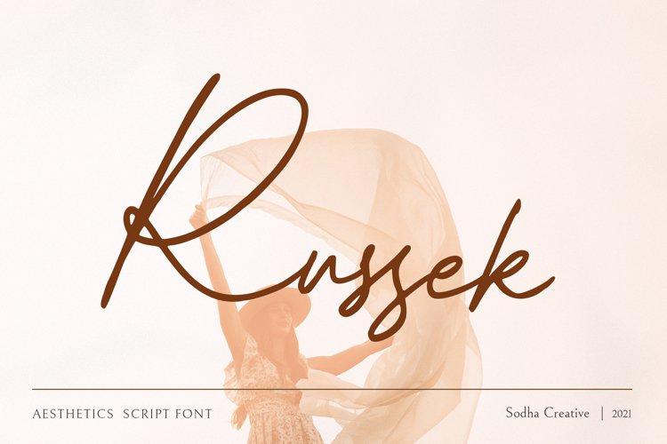 Russek - Elegant Calligraphy