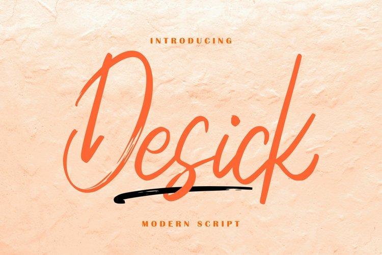 Desick Modern Script example image 1