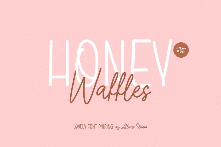 Honey Waffles - Font Duo example image 1