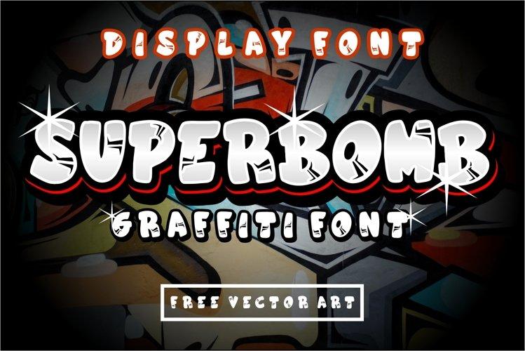 superbomb graffiti display font example image 1