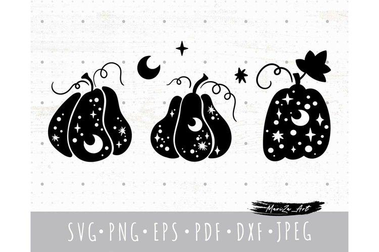 Halloween Pumpkin SVG, Fall celestial pumpkin svg png