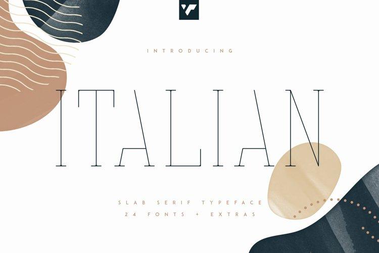 Italian Slab Serif - 24 fonts More example image 1