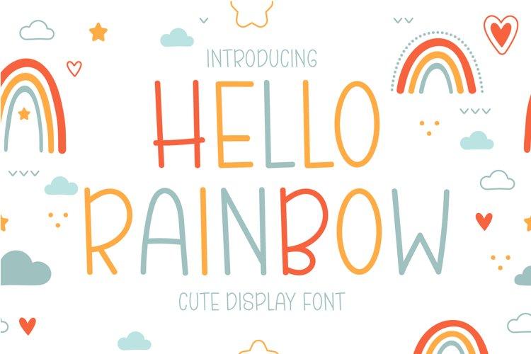 Hello Rainbow - Cute Display Font example image 1