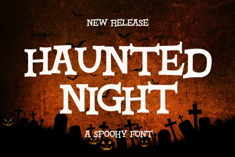 Haunted Night - a Spooky Font