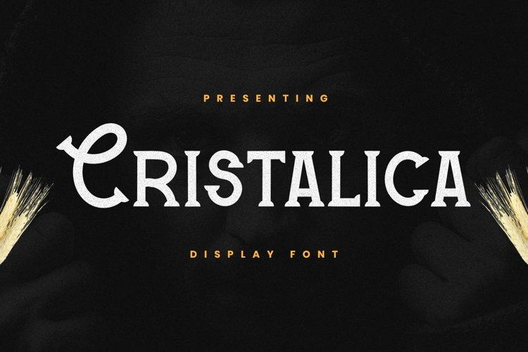 Cristalica Font example image 1