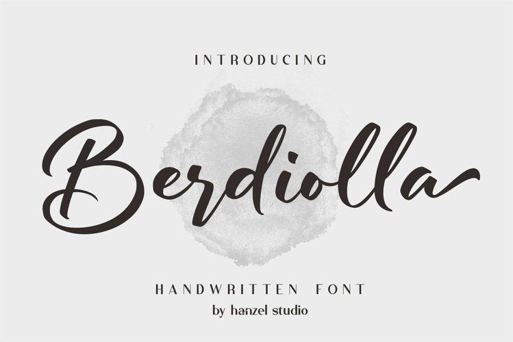 Berdiolla - Handwritten Font example image 1