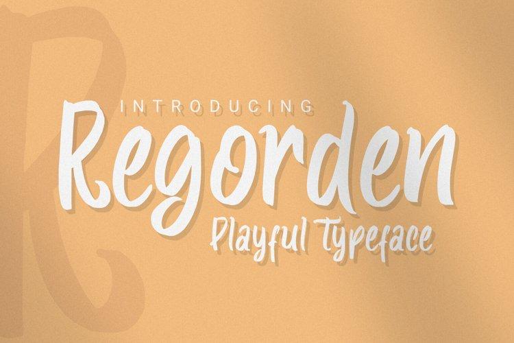 Regorden - Playful Typeface