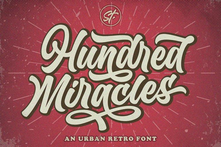 Hundred Miracles - Urban Retro Font example image 1