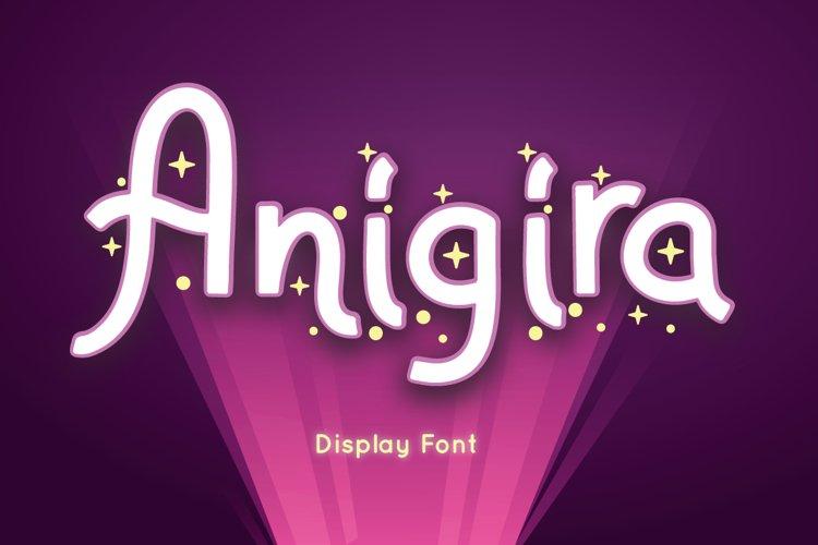 Anigira - Display Font example image 1