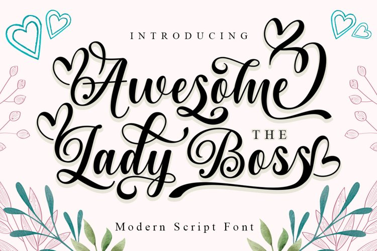 Awesome The Lady Boss example image 1
