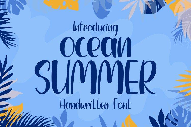 Ocean Summer - Handwritten Font example image 1