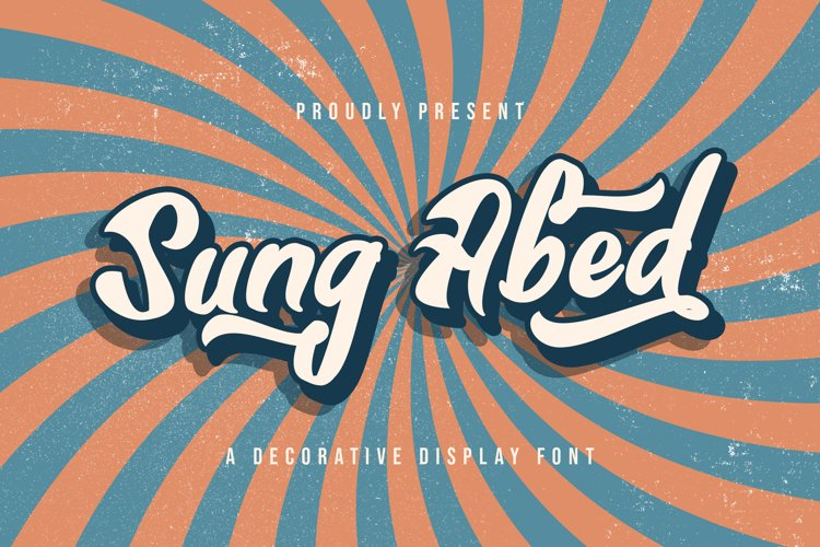 Sung Abed - Decorative Display Font example image 1