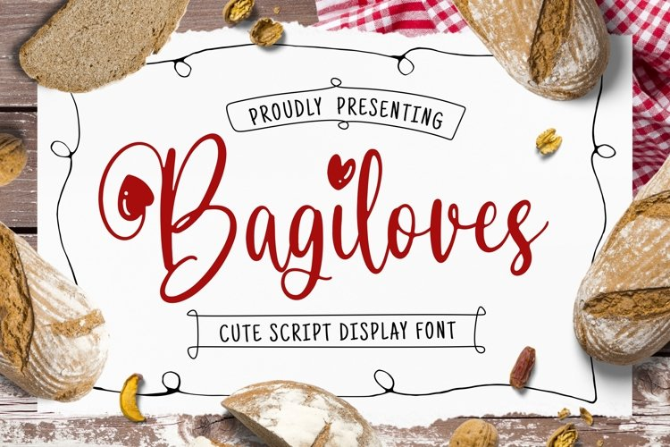 Bagiloves Font example image 1
