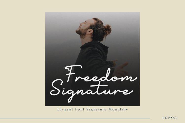 Freedom Signature example image 1