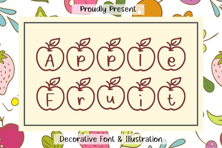Apple Fruit Font example image 1
