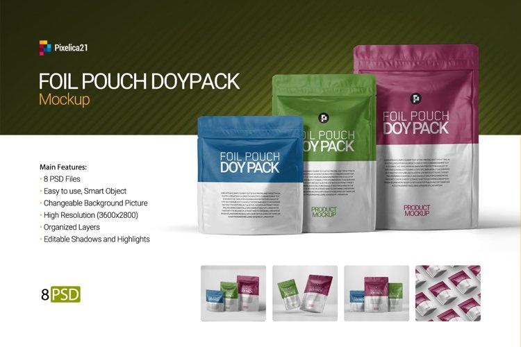 Foil Pouch DoyPack Mockup