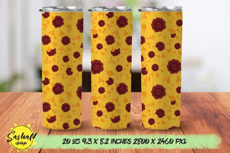 Sunflower sublimation tumblers, 20 oz skinny tumbler