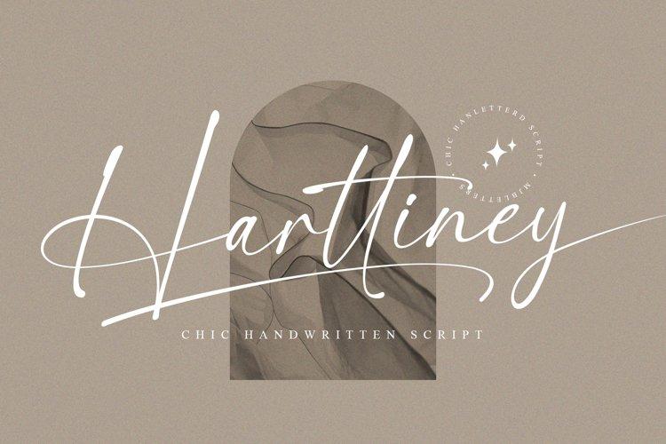 Harttiney - Handwritten Script example image 1