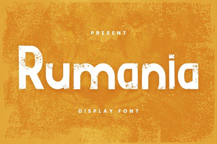 Rumania Font example image 1