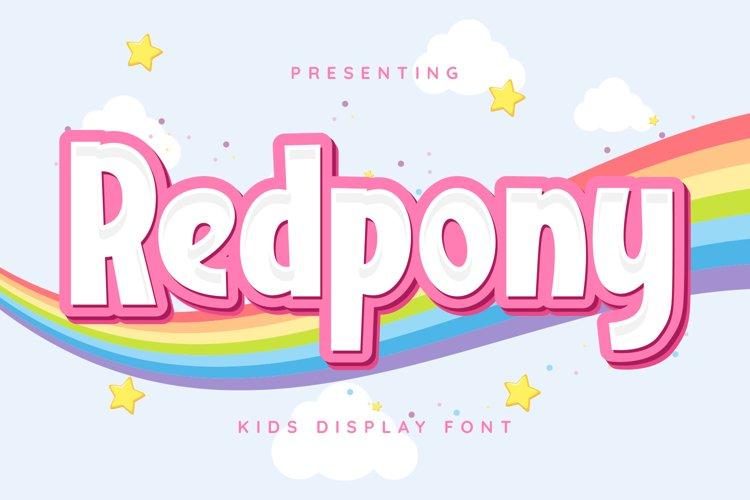 Redpony Font example image 1