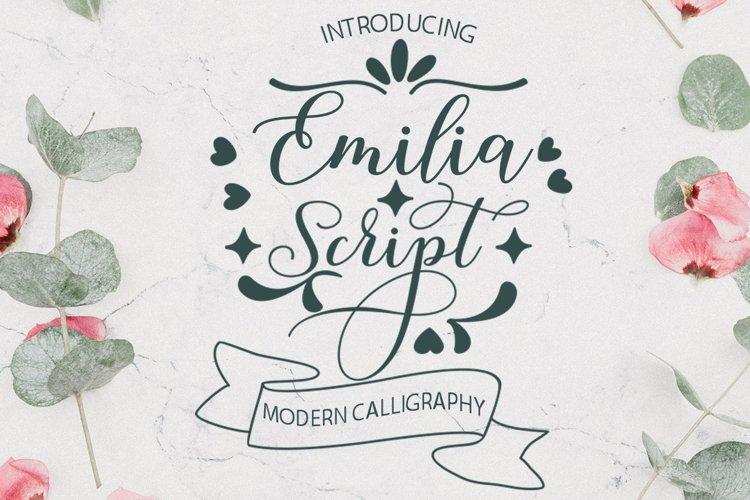 Emilia Script - Extras example image 1