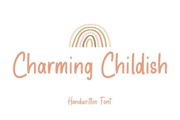 Charming Childish - Display Font example image 1