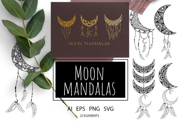 Moon mandalas SVG