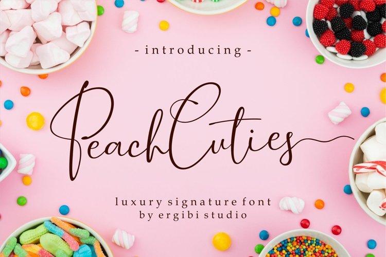 Peach Cuties Luxury Signature Font example image 1