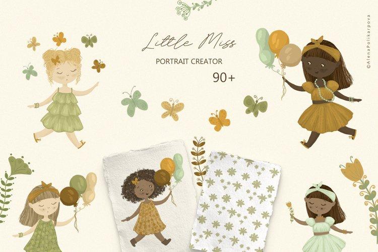 Little Girl, PORTRAIT CREATOR, Baby shower clipart, kids