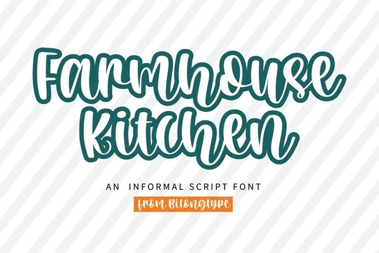 Farmhouse Kitchen -A quirky handwritten font example image 1
