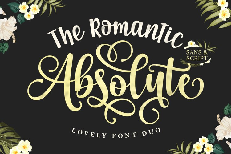 The Romantic Absolute Font Duo example image 1