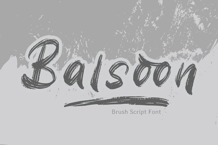 Balsoon - Brush Font example image 1