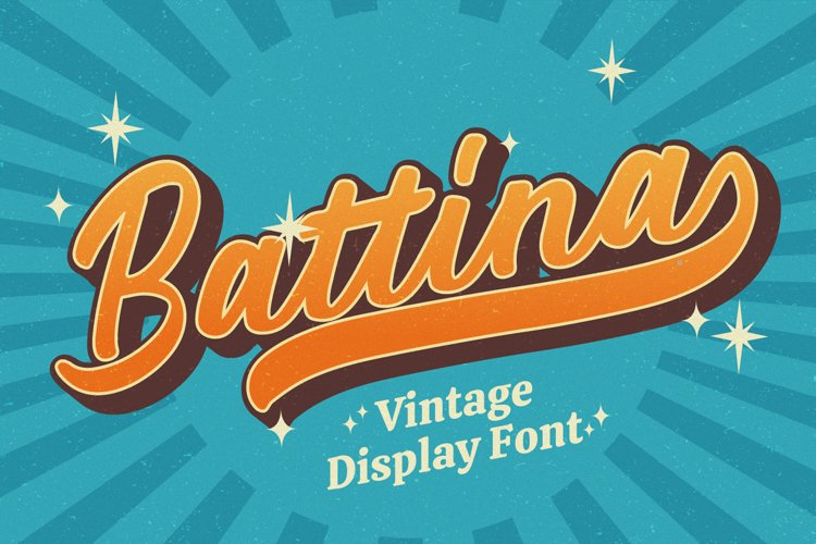 Battina - Vintage Display Font example image 1