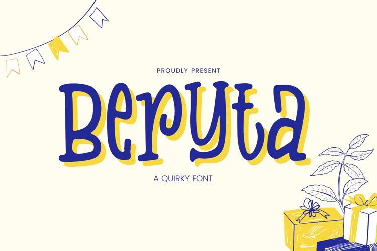 Beryta Font example image 1