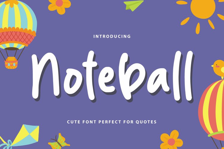 Noteball - Cute Font example image 1