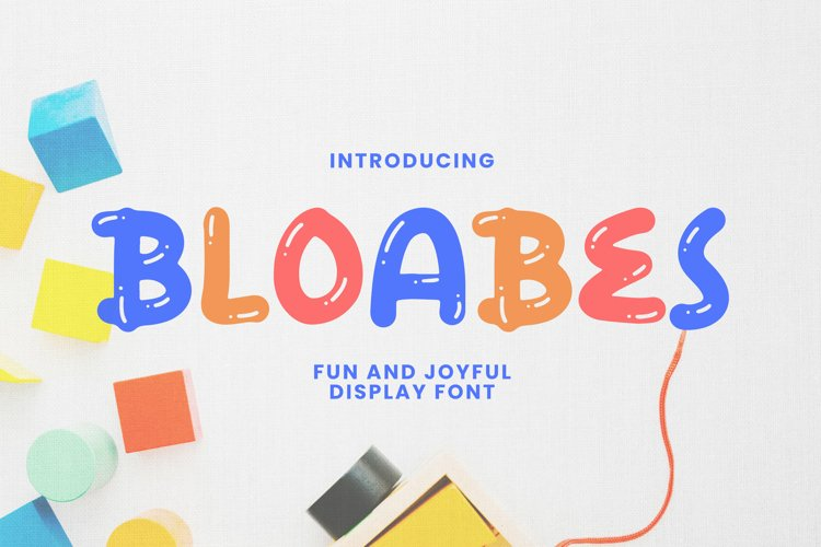 Bloabes Font example image 1