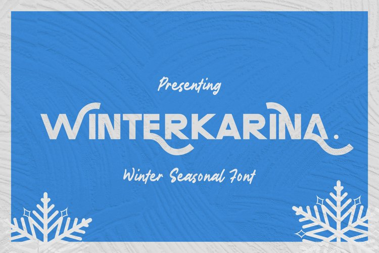 Winterkarina Font example image 1