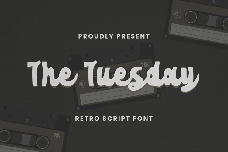 The Tuesday Font example image 1