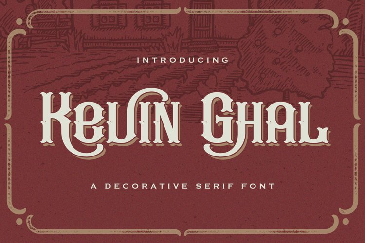 Kevin Ghal - Victorian Decorative Font example image 1