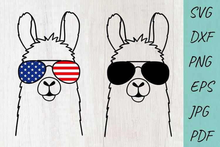 LLAMA SVG Cut File, Lama Head Svg, Llama in glasses svg