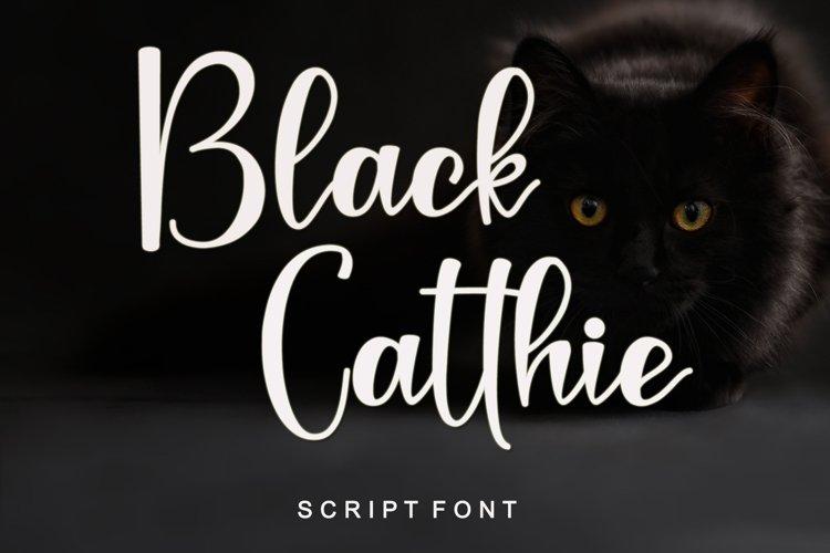 Black Catthie - Script Font example image 1
