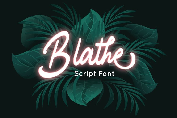 Blathe - Script Font example image 1