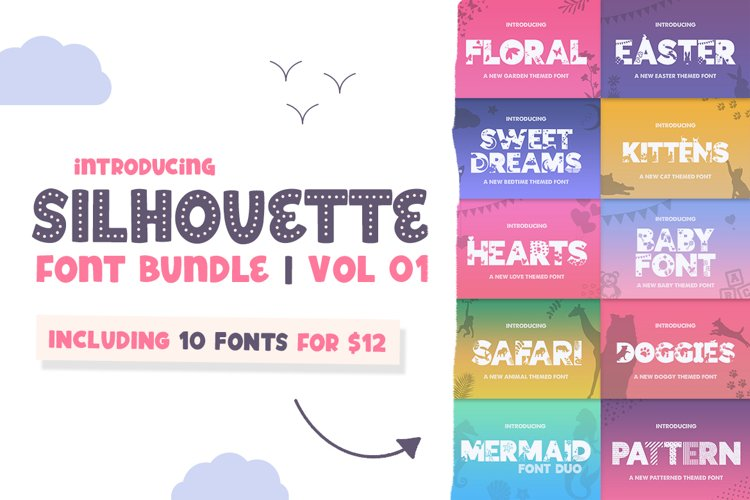 The Silhouette Font Bundle - Volume 01 example image 1
