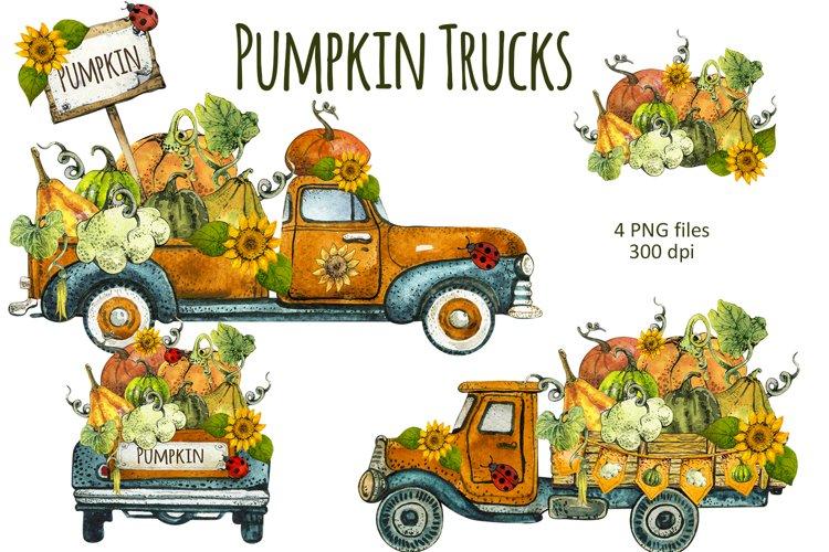 Watercolor Happy Fall Clipart png, Hello Pumpkin, Autumn