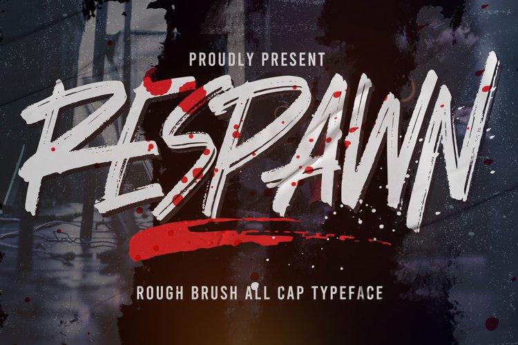 Respawn - Handwritten Brush font example image 1